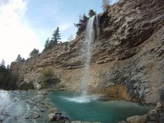 Hidden waterfall, Fairmont Hot Springs Myself and my fellow graduate friends swam in this waterfall and drank champagne