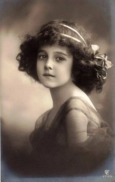 Vintage young girl , 1911