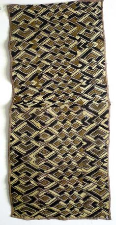 Africa | Kuba Cloth. DR Congo