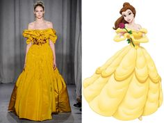 Marchesa has a dress for every Disney princess — Belle, Beauty and the Beast