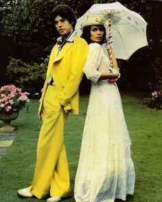 Mick and Bianca Jagger for the Sunday Times Magazine, 1974