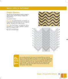 Flower Diamond, Wave Stitch Patterns