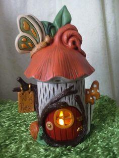 Fairy House  Handmade Bird House  Butterfly por TeresasCeramics, $25.00