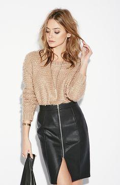 Twist Bracelet / Zip Pencil Skirt