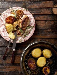 Филе цыпленка с американским картофелем