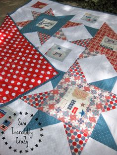 Sew Incredibly Crazy: A Perfect Picnic #rileyblakedesigns #picnic #laminate #starsandstripes #july4th