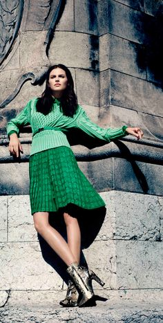 Mish mosh. #Sweater #Skirt #Emerald #Mint #Green #Mixed #Hues #Photography #Monochrome
