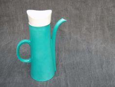60's Ernest Sohn Mid Century Modern Teal Coffee/Tea Pot Pitcher