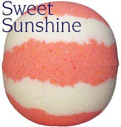 Sweet Sunshine Bath Bomb 8oz tangy satsuma fragrance with sweet orange...