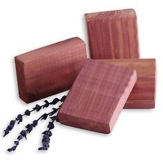 Cedar & Lavender Blocks for clothing in storage bags or containers.