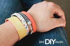 diy: fabric bracelets
