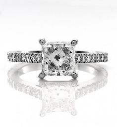 2 Carat Princess Cut Engagement Ring Solitaire 25