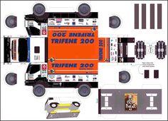 Truck Paper Model Papercraft | 2005 kerax team trifene200 n531 - Maquette Dakar
