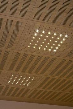 Acoustic suspended ceiling tile / perforated IDEALED Ideatec