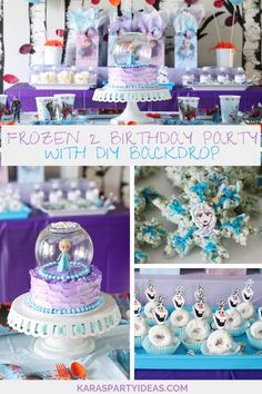 Kara's Party Ideas Frozen 2 Birthday Party with DIY Backdrop | Kara's Party Ideas