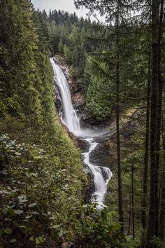 Wallace Falls A shot of Wallace Falls in Washington State. Wallace Falls Washington State waterfalls waterfall beautiful wilderness outside PNW outdoors pacific northwest explore view views quest live authentic outbound
