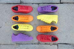 We <3 color! #adidas #Superstar #Supercolor #adidasOriginals #sneakers #PharrellWilliams #streetwear #Sizeer