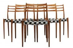 Buy our Niels Moller Teak Dining Chairs from The Vintage Hub , the home of mid-century furniture. Teak Dining Chairs, Scandinavian Furniture, Mid Century Furniture, Fine Dining, Wine Rack, Mid-century Modern, Hair Accessories, Vintage, Number