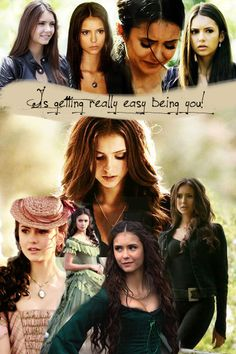 The vampire diaries katerina petrova and elena gilbert Vampire Diaries The Originals, The Vampire Diaries 3, Damon Salvatore, Nina Dobrev, Katherine Pierce, Elena Gilbert, Paul Wesley, Katharina Petrova, The Salvatore Brothers