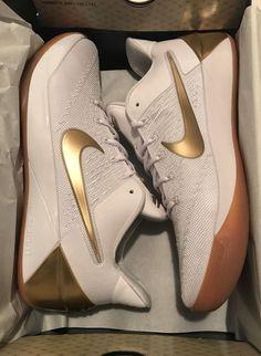 Nike Kobe AD BIG STAGE 852425-107 SIZE 12.5 White Gold Prelude FTB