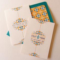Invitacion de boda mexicana inspirada en azulejos