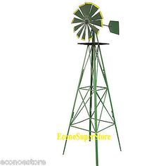 Other Gardening Supplies 181051: 8 8 Feet Green Metal Windmill Yard Garden Deco Wind Mill Weather Rust Resistant -> BUY IT NOW ONLY: $83.99 on eBay!