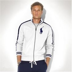 Ralph Lauren Men Big Pony Fleece Baseball Jacket White http://www.ralph-laurenoutlet.com/