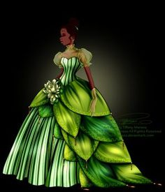Disney Haut Couture - Tiana by selinmarsou