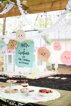 milk & cookies playdate party ideas