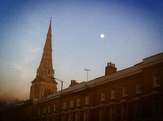 St Giles Church and Camberwell moon