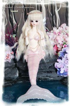 Mermaid BJD, this one is super cute!  #bjd #mermaid