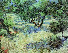 """Olive Grove - Bright Blue Sky, Vincent van Gogh 1889 """