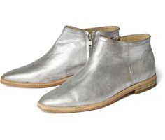 Women's Shift (Silver) Leather Ankle Boot | H Shoes
