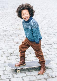 #knit #pattern for #kids from Sandnes garn - Design 3 Genser i vevestrikk