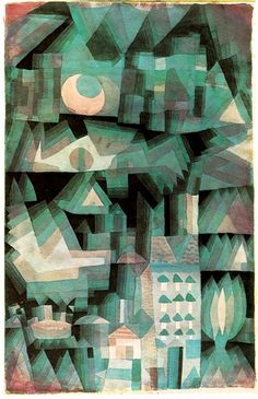 Paul Klee- Dream City- As a classical music lover, like myself, Klee made a conscious effort to employ the abstract elements of art (color, line, shape, etc...) in a manner analogous to the way in which a composer might organize sound. Klee's favorite composers (and mine as well) were J.S. Bach and Mozart who he admired not only for their technical/formal mastery... but also for their wit and playfulness.