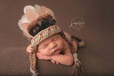 Newborn Indian Photo Prop Set Indian Indian Headdress Diaper Cover Newborn I Baby Boy Photos, Newborn Pictures, Baby Pictures, Newborn Pics, Native American Baby, Baby Shooting, Baby Boy Dress, Baby Dresses, Baby Girl Nursery Themes