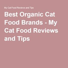 Best Organic Cat Food Brands - My Cat Food Reviews and Tips