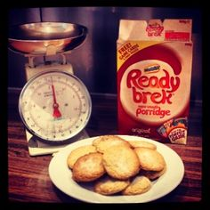 Home made ready brek cookies.   Can't seem to find this recipe anywhere online so I experimented and succeeded,    100g ready beak 120g caster sugar 150g of butter 100g of self raising flour  Method  Mix ready beak and flour   Melt butter and add sugar  Mix together and bake for 15-20mins on 180*c