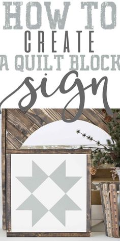 I'm pumped to be writing my first DIY post of today I thought I bring you a post that's long over due and has been highly requested, which is of course my farmhouse quilt block tutorial! These quilt block farmhouse signs originally appeared in my. Barn Quilt Designs, Barn Quilt Patterns, Quilting Designs, Block Patterns, Quilting Patterns, Farmhouse Quilts, Farmhouse Signs, Farmhouse Decor, Country Farmhouse