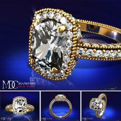 Engagement & The City | Cushion Diamond Engagement ring ✿