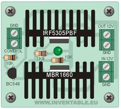 MOSFET (part 2/3) - Solar panel on/off controller. Use it with a digital signal to turn on or off your solar system.