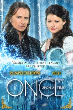 "Once Upon A Time S4 Cast: Robert Carlyle ""Rumple,"" Emilie de Ravin ""Belle"""