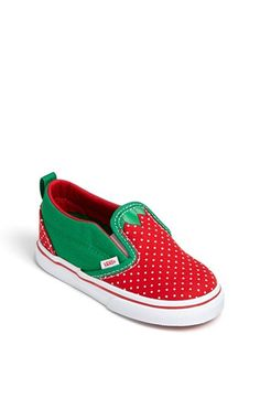 Vans Strawberry Print Slip-On (Baby, Walker & Toddler) available at #Nordstrom