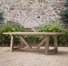 great French Country Provence Beam table... Restoration Hardware. I would love this on my back patio. Now to check ana white's site for plans....