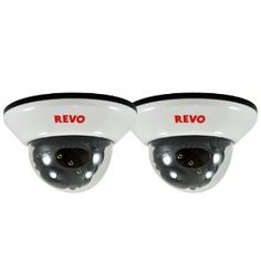 Revo RCDS12-2BNDL 600TVL Indoor Dome Surveillance Cameras with 33-Feet Night Vision (2-Pack) by Revo. $119.99. The REVO RCDS12-2BNDL, is a 2-pack of Super High Resolution Color Cameras. Get crisp, clear images with 600 TV Lines durable, discrete dome housing, requires 0.0 lux (IR ON). Free lifetime technical support. Dome camera is designed for indoor use. Wall bracket is included. No visible cable. Nightvision: Built in Infra Red (IR) LEDs allow dome camera to see ...