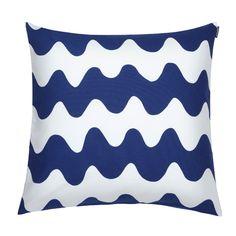 Pikku Lokki cushion cover, blue, by Marimekko.