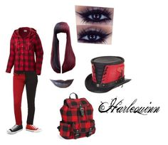 """""""Harlequinn"""" by alexis-miller-3 on Polyvore featuring Columbia, Converse, Tripp, Clair Beauty and Aéropostale"""