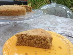 Cukinando: Vanilla oatmeal sponge cake with stevia