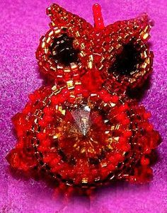 Beaded Owl tutorial by Rizzo Antonietta