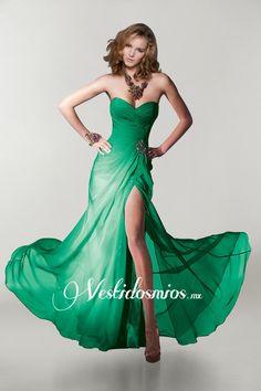 Vestidos de fiesta largos verde jade